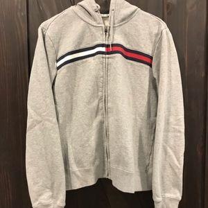 Tommy Hilfigure gray zip hoodie size L